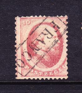 NETHERLANDS  1864 10c  KING WILLIAM III    FU    Sc 5