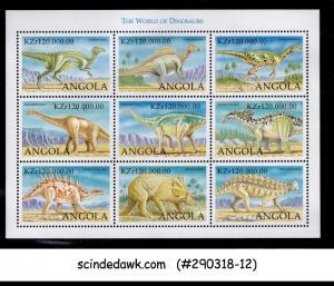 ANGOLA - 1998 THE WORLD OF DINOSAURS - MINIATURE SHEET MNH
