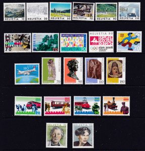 Switzerland a small MNH lot of moderns