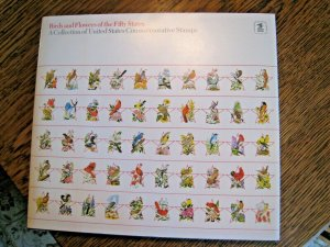 U.S. - BIRDS & FLOWERS OF THE FIFTY STATES COLLECTION - BOOK AND STAMPS