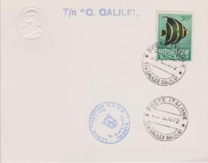 Togo 30F French Angelfish 1972 Postes Italiane, T/N Galileo Galilei Card with...