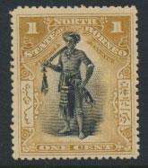 North Borneo SG 92a MH SC# 79 perf 14½ x 15  see details & scans
