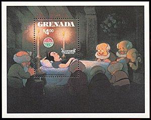 Grenada 1030, MNH, Disney Christmas, Snow White souvenir sheet