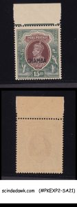 CHAMBA STATE - 1942-47 15r KGVI brown & green SG#106 - OVPT MINT NH