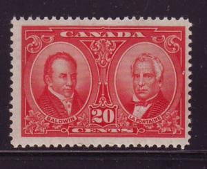 Canada Sc 148 1927 20 c Baldwin & Lafontaine stamp mint