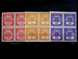 US/MICHIGAN - # FE3,FE9,FE11 - BLOCK 4 - MNH - CAT VAL $24.00