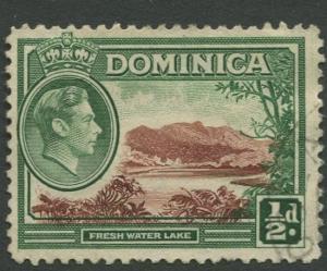 DOMINICA -Scott 97 - KGVI - Definitive -1938 - VFU - Single 1/2p Stamp