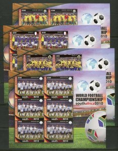 SIERRA LEONE   WORLD CUP SOCCER SOUTH AFRICA 2010 SET OF 32 SHEETS  MINT NH