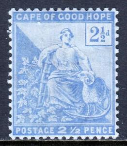 CAPE OF GOOD HOPE — SCOTT 57 (SG 63) — 1896 2½d SEATED HOPE — MH — SCV $9.00