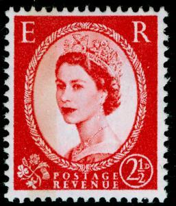 SG614b, 2½d carmine-red, TYPE I (1 band), NH MINT. Cat £45. PHOSPHOR.