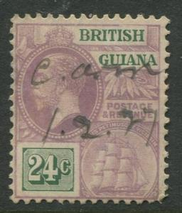 British Guiana - Scott 197- KGV Definitive -1921 - VFU - Single 24c Stamp