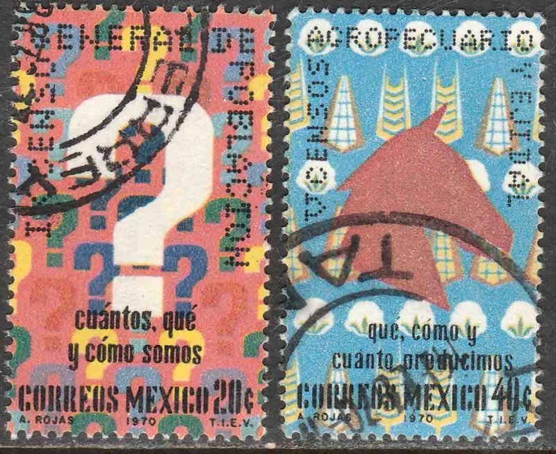 MEXICO 1024-1025 Census. Used. VF. (303)