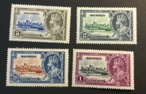 Mauritius Sc# 204-207 Complete Set Mint Hinged MH