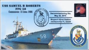 2015, USS Samuel B Roberts, Naval, FFG 58, Pictorial, Decommission, 15-146