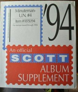 SCOTT UN Minuteman 1994 supplement