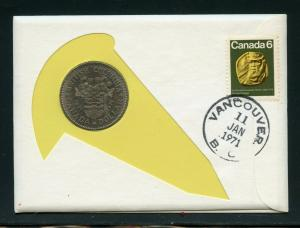 CANADA  1971 COMBO FIRST DAY OF ISSUE BRITISH  COLUMBIA DOLLAR  COVER AS SHOWN