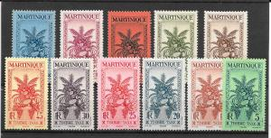 MARTINIQUE MH SET SC#J26-J36 TROPICAL FRUIT SCV$14.60