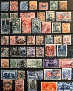 Italy Italia - collection 50 used classic stamps Michel CV Eur101