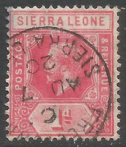 SIERRA LEONE 104 VFU Z7060-1