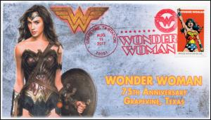 17-282, 2017,Wonder Woman, Grapevine TX, Event Cover, Pictorial Cancel,