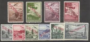 Serbia German Occupation 2NC1-10 1941 set NH