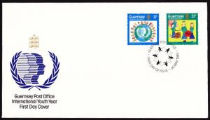 Guernsey 1985 INTERNATIONAL YOUTH YEAR/Scouting FDC