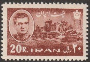 Persian/Iran stamp, Scott# 1343, MNH, 20R, red brown,1965 year, #K-13
