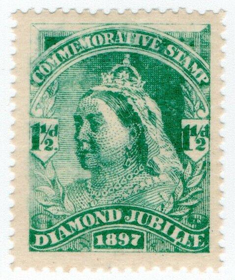 (I.B) QV Cinderella : Unofficial Diamond Jubilee Issue 1½d (1897)