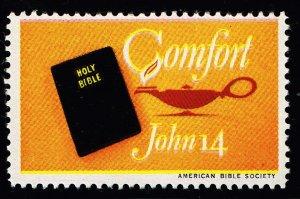 US STAMP CHRISTIAN LABEL STAMP COMFORT JOHN 14