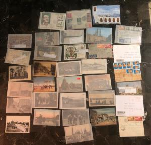 Great Egypt Picture Postcard Cover Collection Lot MXE