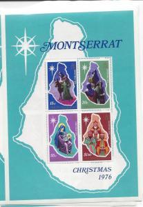 Montserrat, 358a, Christmas 1976 S/S(4),**MNH**