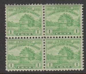 USA Sc#728 MNH Block of 4