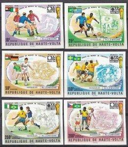 1974 Upper Volta 524-529b 1974 FIFA World Cup in Munich 20,00 €
