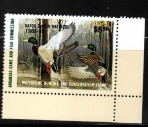 Arkansas No 5 Duck Stamp LR Mallards Mint NH