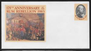 Australia Postal Stationary PSE060 175th Rum Rebellion Mint