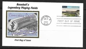 US 3517   FDC  COMISKEY PARK, CHICAGO, COLORANO SILK