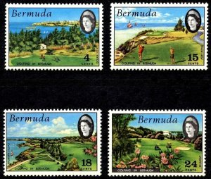 BERMUDA - 1971 - QE II - GOLF COURSES - OCEAN VIEW - BELMONT ++ 4 X MNH - SET!