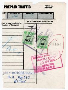 (I.B) Zambia Railways : Parcel Stamps 56n