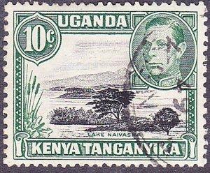 KENYA UGANDA TANGANYIKA 1949 KGVI 10c Black & Green SG135 FU