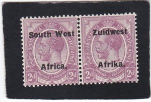 South West Africa,  #  31    unused  pair