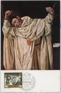 59080 -  SPAIN - POSTAL HISTORY: MAXIMUM CARD 1962 -  ART Religion