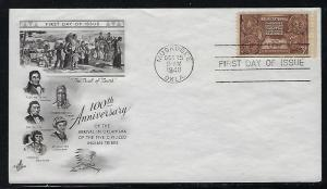 FDC First Day Cover #972 5 Indian Nations Centennial in Oklahoma Muskogee
