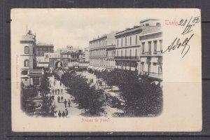 TUNISIA, 1902 ppc. Tunis, Avenue de France, 5c. Tunis to Austria.