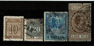 Italy - 4 Older Used Revenues / Last With Pulled Top Perf - S9419