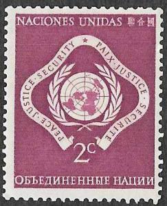 UN New York SC 3 - Peace, Justice, Security - MNH - 1951