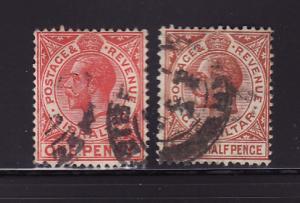 Gibraltar 77-78 U King George V (B)