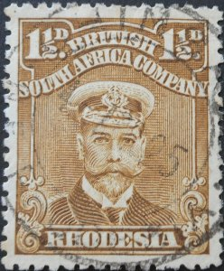 Rhodesia Admiral One and a HalfPence with CHINSALI (DC) postmark