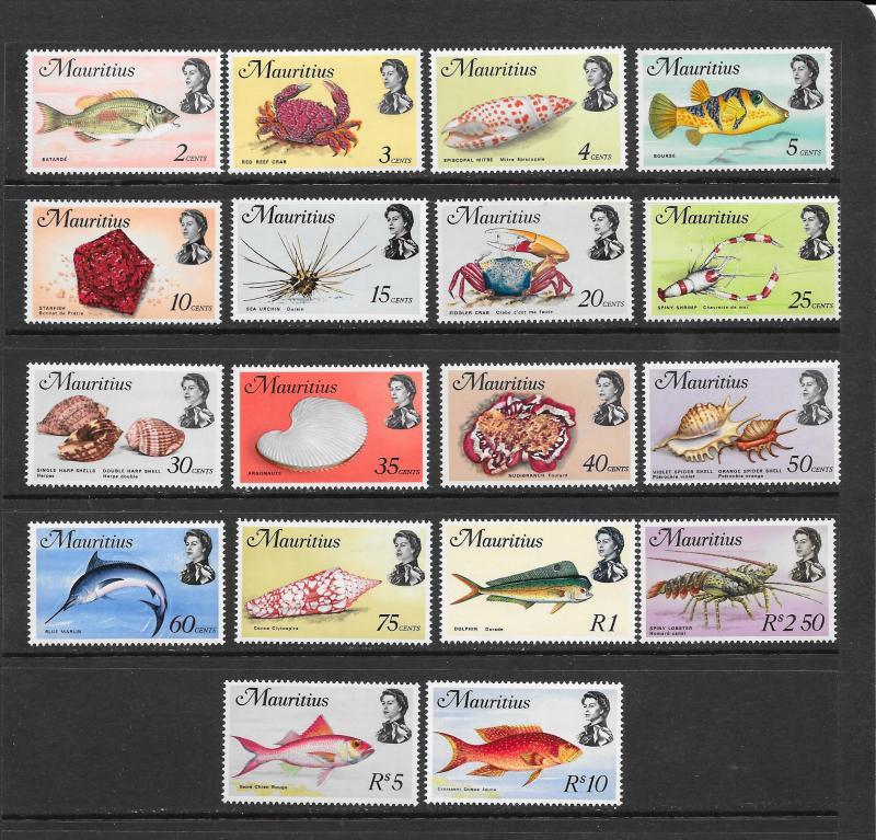 FISH  - MAURITIUS #339-356