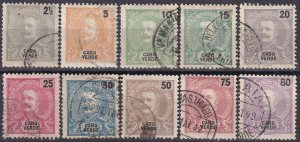 Cape Verde #36-8, 40-1, 43-5, 48-9   F-VF Used CV $13.20  (Z2518)