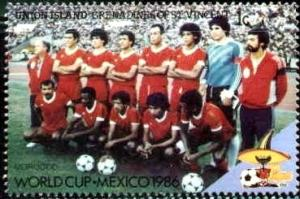 1986 World Cup Soccer Champ., Mexico, St Vincent, Union Isld SC#218 MNH